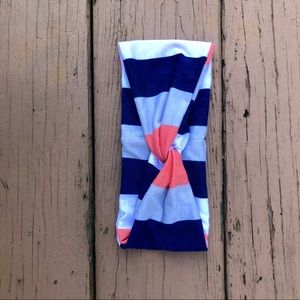Beach Island Summer Striped Tie Knot Headband